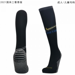 2020-2021 Inter Milan 2nd Away Royal Blue Soccer Socks