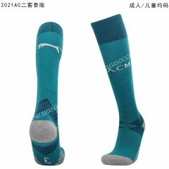 2020-2021 AC Milan 2nd Away Blue Thailand Soccer Socks