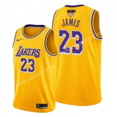 2020 Final edition Lakers NBA Yellow #23 With Final Logo Jersey