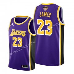 2020 Final edition Lakers NBA Purple #23 With Final Logo Jersey