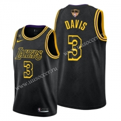2020 Final edition Lakers NBA Black #3 With Final Logo Jersey