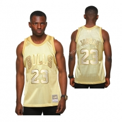 Limited Version NBA Chicago Bull Golden #23 Jersey