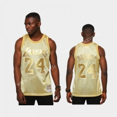 Limited Version NBA Los Angeles Lakers Golden #24 Jersey