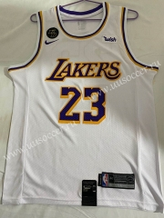 Lakers NBA White #23 Jersey