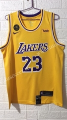 Lakers NBA Yellow #23 Jersey