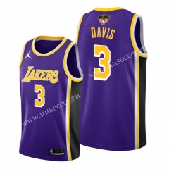 2020 Final edition Lakers NBA Purple #3 With Final Logo Jersey