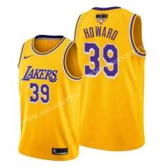 2020 Final edition Lakers NBA Yellow #39 With Final Logo Jersey