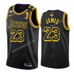 2020 Final edition Lakers NBA Black #23 With Final Logo Jersey