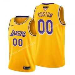 2020 Final edition Lakers NBA Yellow #00 With Final Logo Jersey