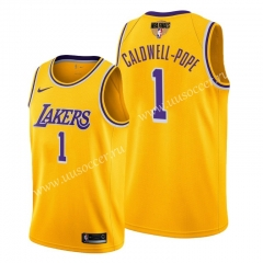 2020 Final edition Lakers NBA Yellow #1 With Final Logo Jersey