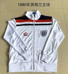 1980 Retro Version England White Soccer Thailand Jacket-AY