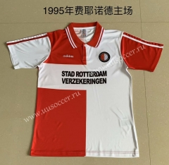 1995 Retro version Feyenoord Rotterdam Home Red & White Thailand Soccer Jersey AAA-AY