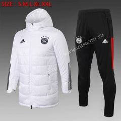 2020-2021 Bayern München White Trench Coats With Hat Uniform-815