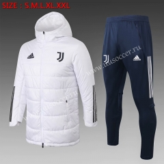 2020-2021 Juventus White Trench Coats With Hat Uniform-815