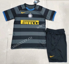 2020-2021 Inter Milan 3rd Away Black & Gray Soccer Uniform