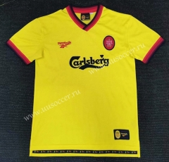 97-99 Retro Version Liverpool Away YellowThailand Soccer Jersey AAA-416