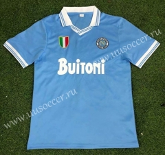 86-87 Retro Version Napoli Home Blue Thailand Soccer Jersey AAA-503