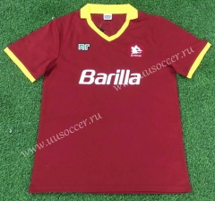 89-99 Retro Version AS Roma Home Red Thailand Soccer Jersey AAA-503