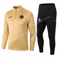 2020-2021 Paris SG Golden Thailand Soccer Tracksuit Uniform-411
