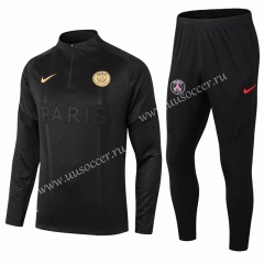 2020-2021 Paris SG Black Thailand Soccer Tracksuit Uniform-411