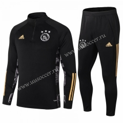 2020-2021 Ajax Black Thailand Soccer Tracksuit Uniform-411