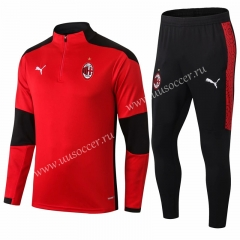 2020-2021 AC Milan Red Soccer Tracksuit Uniform-411