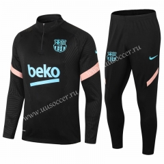 2020-2021 Barcelona Black Thailand Tracksuit Uniform-411