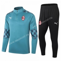 2020-2021 AC Milan Light Blue Soccer Tracksuit Uniform-411