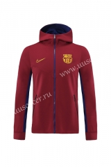2020-2021 Barcelona Maroon Thailand Soccer Jacket With Hat-LH