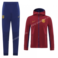 2020-2021 Barcelona Maroon Thailand Soccer Jacket Uniform With Hat-LH