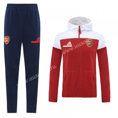 2020-2021 Arsenal Red Thailand Soccer Jacket Uniform With Hat-LH