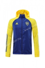 2020-2021 BOCA Juniors Blue & Yellow Trench Coats With Hat-LH