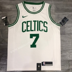 Retro Version NBA Boston Celtics White #7 Jersey-311