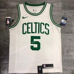 Retro Version NBA Boston Celtics White #5 Jersey-311