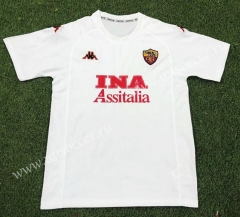 00-01 Retro Version AS Roma Away White Thailand Soccer Jersey AAA-503