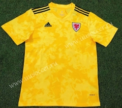 2020-2021 Wales Away Yellow Thailand Soccer Jersey AAA-503