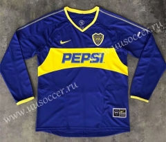 03-04 Retro Version BOCA Juniors Home Blue LS Thailand Soccer Jersey AAA-SL