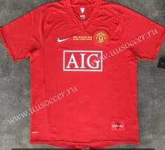 UEFA Champions League 07-08 Retro Version Manchester United Home Red Thailand Soccer Jersey AAA-510