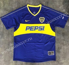 03-04 Retro Version Boca Juniors Home Blue & White Thailand Soccer Jersey AAA-SL