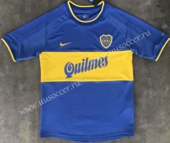 1999-2000 Retro Version Boca Juniors Home Blue & White Thailand Soccer Jersey AAA-510