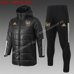 2020-2021 Arsenal Black Thailand Soccer Coat Uniform With Hat-815