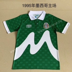 Retro Version 1995 Mexico Green Thailand Soccer Jersey AAA-AY