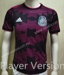 Player Version 2020-2021 Mexico Home Black & Pink Thailand Soccer Jersey AAA-807