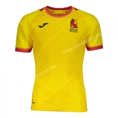 2020-2021 Spain Away Yellow Rugby Shirt