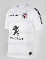 2020-2021 Toulouse Away Black & White Rugby Shirt
