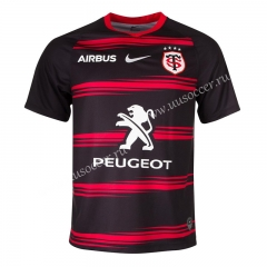 2020-2021 Toulouse Red & Blue Rugby Shirt