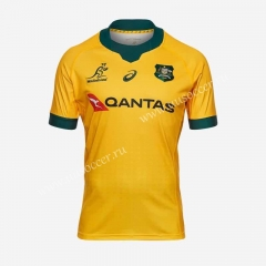 2020-2021 Australia Home Yellow Rugby Shirt