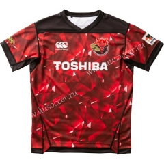 2020-2021 Toshib Brave Lupus Home Red Rugby Shirt