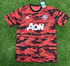 2020-2021 Manchester United  Red & Black Training Thailand Soccer Jersey AAA-407