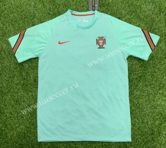 2020-2021 Portugal Green Training Thailand Soccer Jersey AAA-407